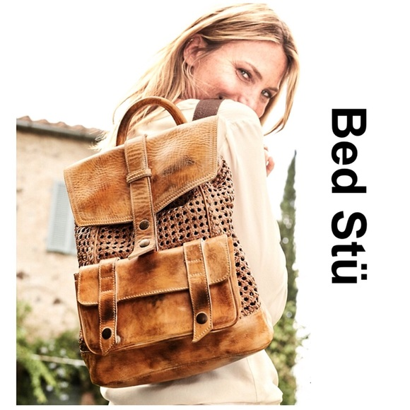 """Free People Handbags - STUNNING Bed Stü """"Naples"""" Leather Backpack! 3671ba977802a"""